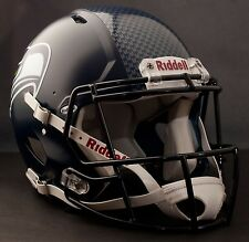 **GAMEDAY-AUTHENTICATED** Seattle Seahawks HYDROFX Riddell Speed Football Helmet