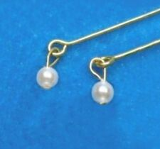 Dreamz WHITE PEARL DROP Earrings for Vintage Barbie