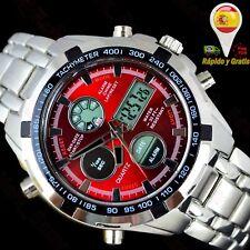 5148a06b07ce Reloj Hombre Digital Deportivo Militar de Caballero Relojes Hombres Esfera  Roja