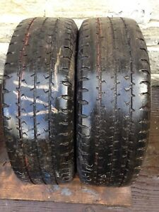 2x 215 65 16C GOODYEAR CARGO  G26 TYRES 4mm TESTED FREE POSTAGE