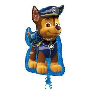 "Paw Patrol Chase  Birthday Party Supply SuperShape Jumbo Balloon 31"""