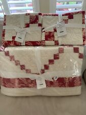 Pottery Barn Andover Patchwork Full Queen Quilt & 2 Standard Shams New With Tags