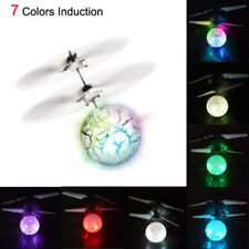 Flash Flying Ball Infrared Induction Colorful 7 LED Disco RC Helicopter Kids Toy