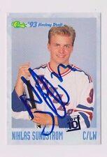 93/94 Classic Draft Hockey Niklas Sundstrom Modo Sweden/Rangers Autographed Card