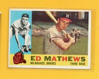 0521  1960 Topps #420 Eddie Mathews BRAVES CARD BK$50