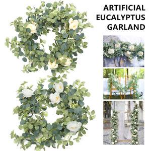 1.8M Artificial Eucalyptus Garland Hanging Rattan Vine Ivy Wedding Flowers Decor