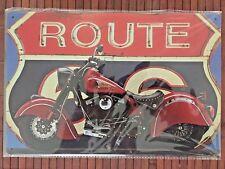 Blechschild Werbung Metallschild Wandschild Retro Vintage Bar Deko Schild Route