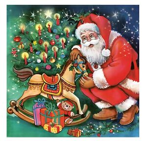 Christmas Napkins for Decoupage Paper Craft Serviettes Santa 33x33cm 3PLY x 20