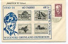 NAUTICA 71 Wegeners Gronland Expedition Erfurt DDR Polar Antarctic Cover