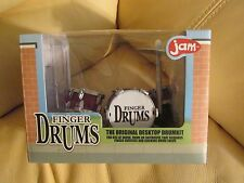 JAM Finger Drums - Desktop Drum kit - Purple w/bass, snare, 2 tom toms & cymbal