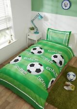 "Rapport Kids Children's ""Goal"" Football Score Duvet Cover Bedding Set Green"