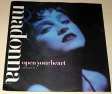 "MADONNA : OPEN YOUR HEART / LUCKY STAR 7"" Vinyl Single 45  (1986) P/S  Ex."