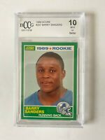 1989 Score Football Barry Sanders RC Rookie #257 BGS BCCG 10 Mint+ SP!! Rare!!
