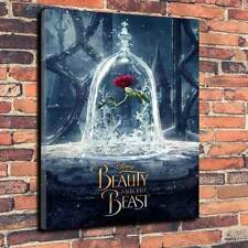 "Beauty and The Beast Printed Canvas A1.30""x20""~Deep 30mm Frame. Disney Movie V5"