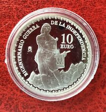Espagne - Magnifique monnaie de 10 Euros 2008  Proof en Argent - 200 Ans Guerre