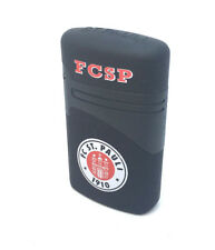 FC St. Pauli Feuerzeug - Jet Flame Lighter Fussball Sturmfeuerzeug FCSP BLACK