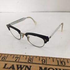 Vintage Cat Eye American Optical 1960's Mid Mod Aluminum Eyeglasses 4 1/4