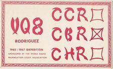 QSL RODRIGUEZ RADIO AMATORI CARD 1967 CBR