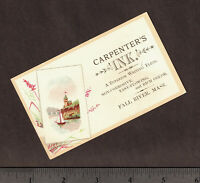 Carpenters INK Writing Fluid Fall River MA Victorian Advertising Trade Card