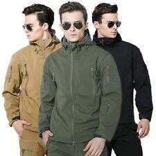 Hot ESDY Shark Skin Soft Shell Men's Outdoors Military Tactical Coat Jacket *