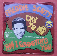 FREDDIE SCOTT-CRY TO ME VERY RARE ITALY 7'' PS 1967 SHOUT RECORDS UNIQUE COVER