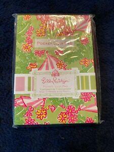 """NEW LILLY PULITZER Pocket Lilly Pad Notepad with Pencil Cabanarama 3.5"""" x 5"""""""