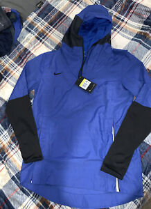 $95 NWT Nike Men's Small Lightweight Hooded Player Jacket CI4477 480 Royal Blue