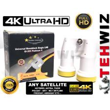 LNB GOLDEN GI-205 Monoblock (1 Out) Single 40mm  Standard For: Ultra HD 4K 3D HD