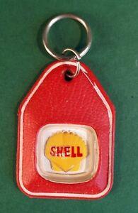 Rare/ HTF SHELL (Oil/ Petrol) Keyring on Silver-Tone Loop. Garage/ Automobilia