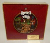 Vintage Hallmark Tree Trimmer 1977 Nostalgia Christmas Ornament Trains Toys Bear