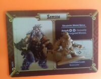 Samson massive darkness boardgame spare part figure black plague crossover