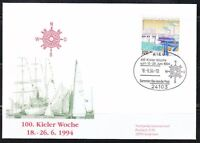 Germany 1994 brief cover Old sailing ships Kiel week