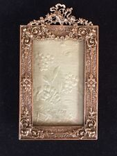 Beau cadre photo bronze doré style Louis XVI / Antique golden bronze photo frame