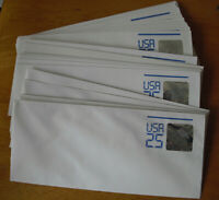 Lot of 30 Vintage USA 25 Cent Space Station 3D Hologram Stamp Envelopes Unused
