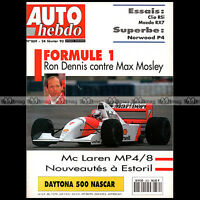 AUTO HEBDO N°869 MAZDA RX-7 CLIO RSI DONKERVOORT D8 COSWORTH NORWOOD P4 1993