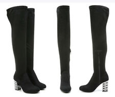 Carlos by Carlos Santana Women's Quantum Over-The-Knee Boots Black Sz 9 NEW