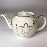 Vintage Sadler England Teapot 2127 Gold Trim Rare