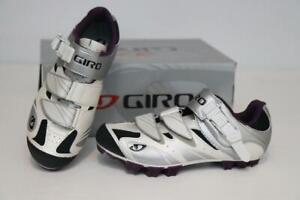 New Giro Women's Manta MTB Cycling Bike Shoes 37.5 5.75 White Plum SPD Mountain