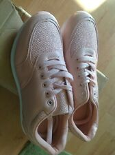 Ladies Pink/sparkle Size 7/40 Trainers New Shop Clearance