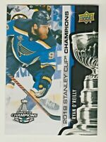 72018-19 Upper Deck 2019 STANLEY CUP CHAMPIONS BLUES SET #3 RYAN O'REILLY RARE