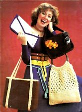 LEISURE ARTS Crocheted Belts & Bags/Purse/Tote/Crochet Pattern INSTRUCTIONS ONLY
