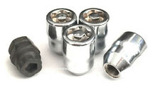 (4) 12x1.5 ACORN WHEEL LOCKS (1) PUZZLE KEY ANTI THEFT SECURITY LUG NUTS