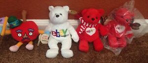 1999 Mr. Apple Ruby eBay Official Bean Bag Toy Stuffed PlushSET of Collectibles
