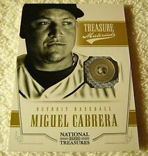 MIGUEL CABRERA 2012 PANINI NATIONAL TREASURES JERSEY BUTTON PATCH SERIAL #5/6