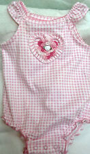 NWOT ROMPER OUTFIT BODYSUIT w/ HANDMADE ROSE 6 9 MONTHS BABY INFANT GIRLS PINK