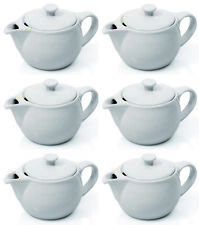 6 Stück Teekännchen, Kännchen mit Deckel, Porzellan, Kanne 0,35 l