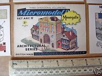 1950s Vintage Original Micromodels Cut-Out Kit ARC IV (4) Moorgate 3/-
