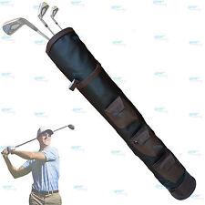 Schwarz Braun Rx F Leder Golf Schläger Ball Tasche 3 H-86,4 cm T-14cm NEU