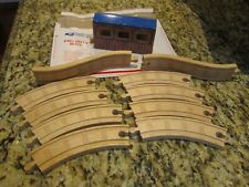 Thomas Train Wood Wooden Track lot Curved Hill covered bridge