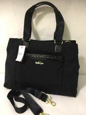 Kipling HB6574 KELLYN Black Nylon Triple Compartments Hand Shoulder Bag Tote NWT